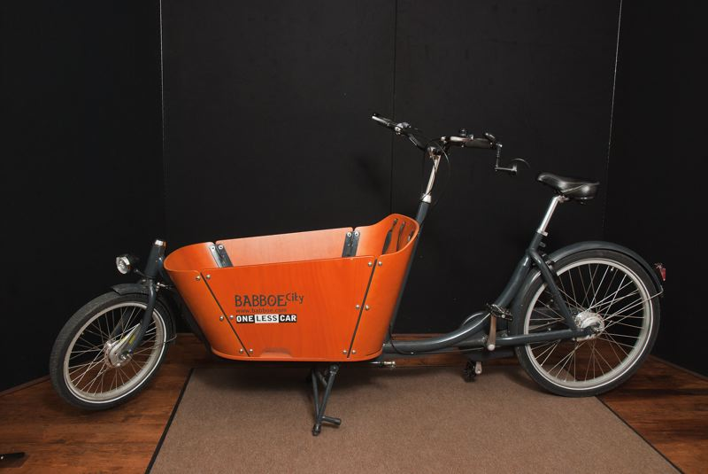 Babboe City cargo bike at Peterborough Cycling Summit 2012