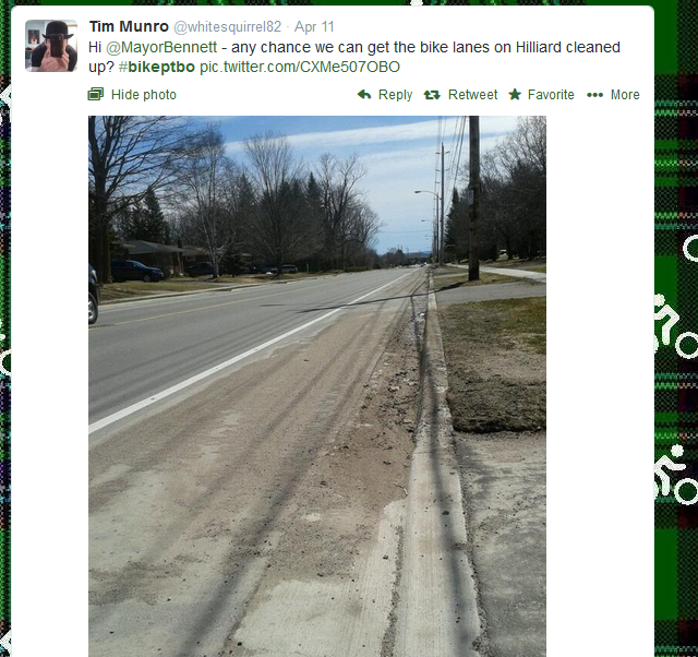 tweet wondering why some streets not cleaned right away