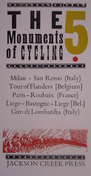image of The 5 Monuments of Cycling Poster