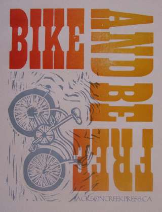 Bike and be Free Poster