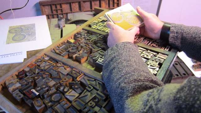 image of Linocut and Raised Type Lettering