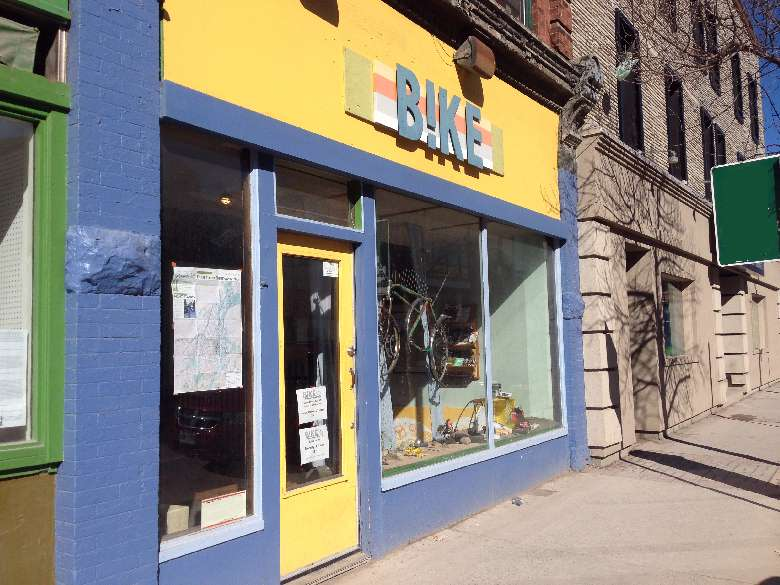 B!ke storefront on George Street