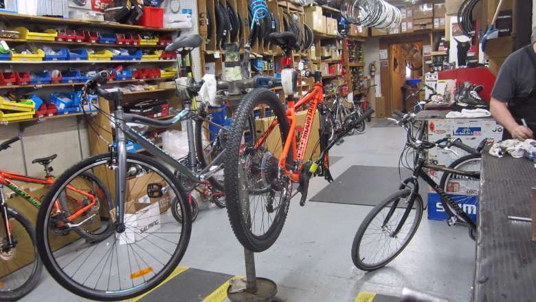 The Bike Service Area at Fontaine's