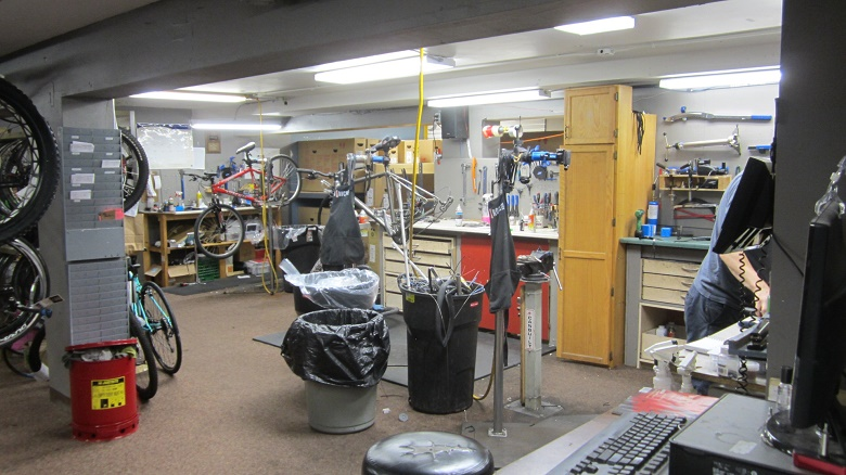 A Spacious and Well-Stocked Maintenance Shop