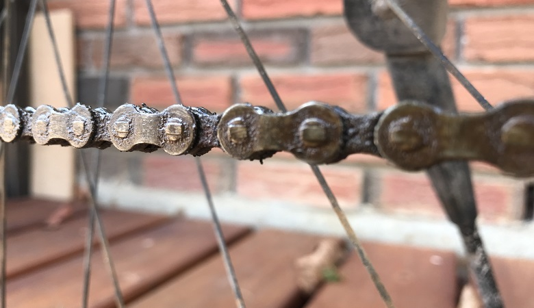 Dirty chain means it is tune-up time